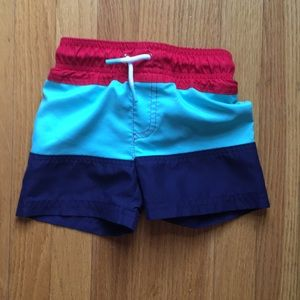 Cat and Jack 12 month swim trunks
